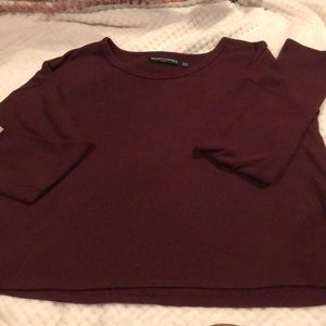 Brandy Melville cropped long sleeved sweater